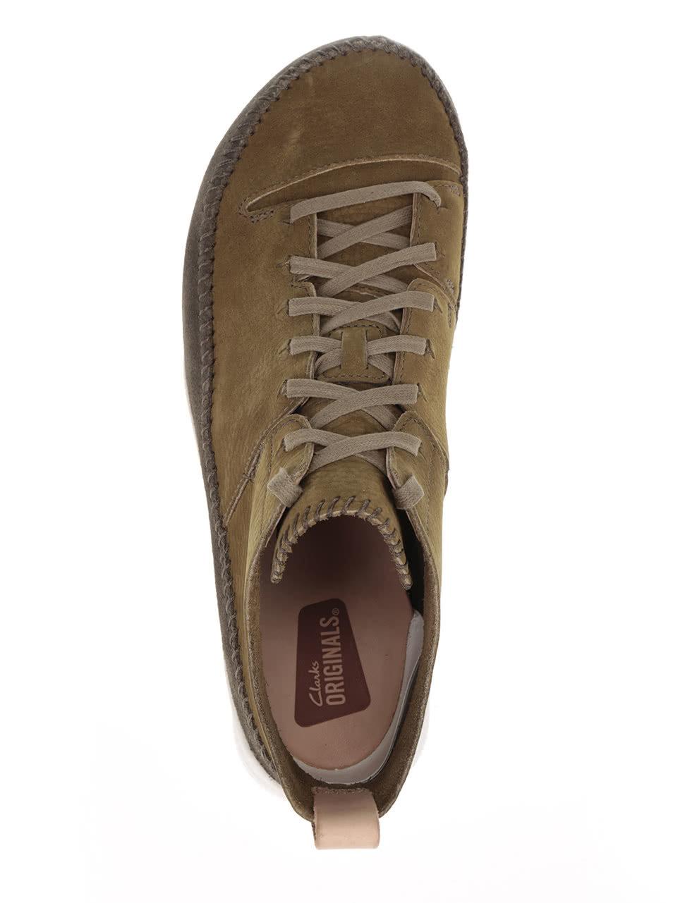323bc5232ad Zelené pánské semišové kotníkové boty Clarks Trigenicflex ...