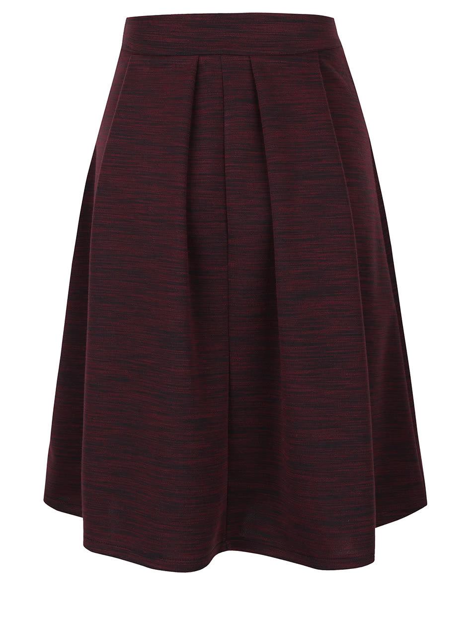 0f17c8ae5c91 Vínová žíhaná áčková sukně Alchymi Cora ...