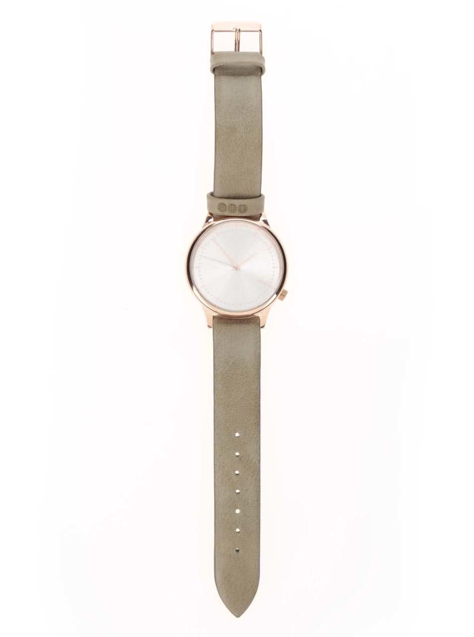 ... Dámské hodinky ve zlaté barvě s koženým páskem Komono Estelle ... 92f49050a1