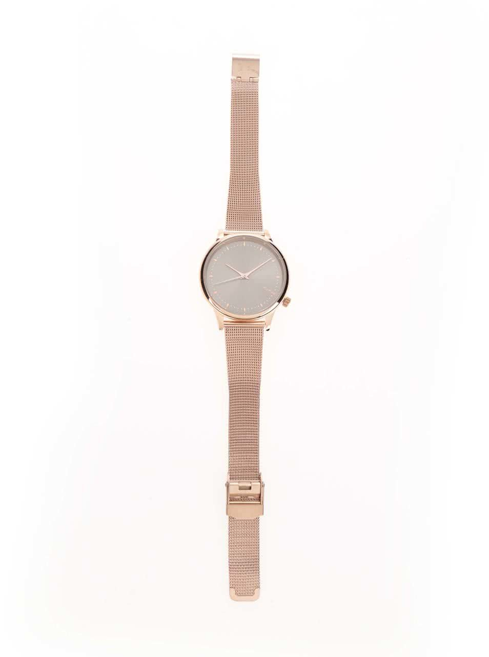 ... Dámské hodinky v barvě růžového zlata ecda9d428d