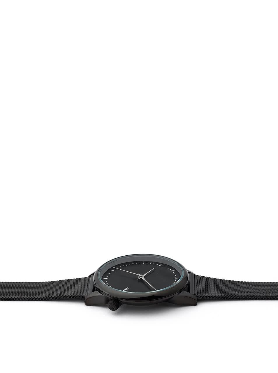 Dámske hodinky s čierným kovovým remienkom Komono Estelle Royale ... d82d9f0f240
