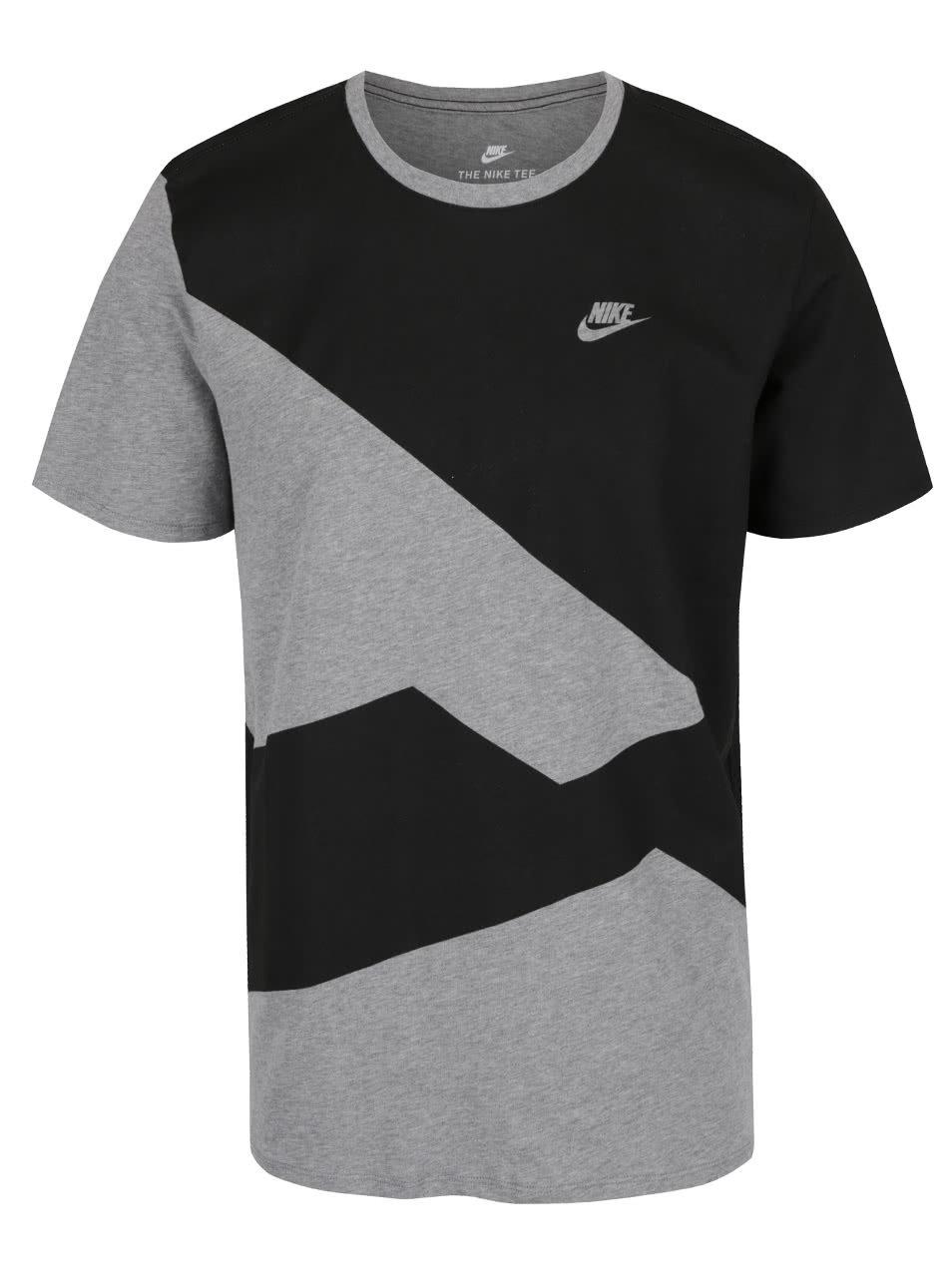 39bd382adf1f Čierno-sivé pánske tričko Nike ...