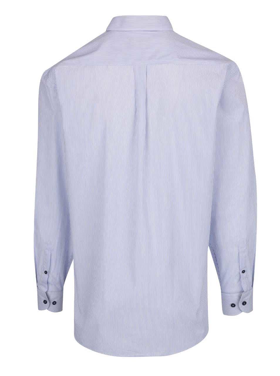 Bílo-modrá pruhovaná pánská košile bugatti ... aa636d1b73