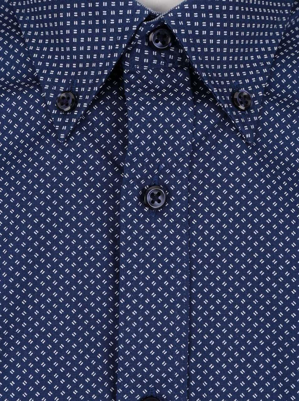 e7445f7ee9 Bielo-modrá pánska vzorovaná slim fit košeľa Tommy Hilfiger ...
