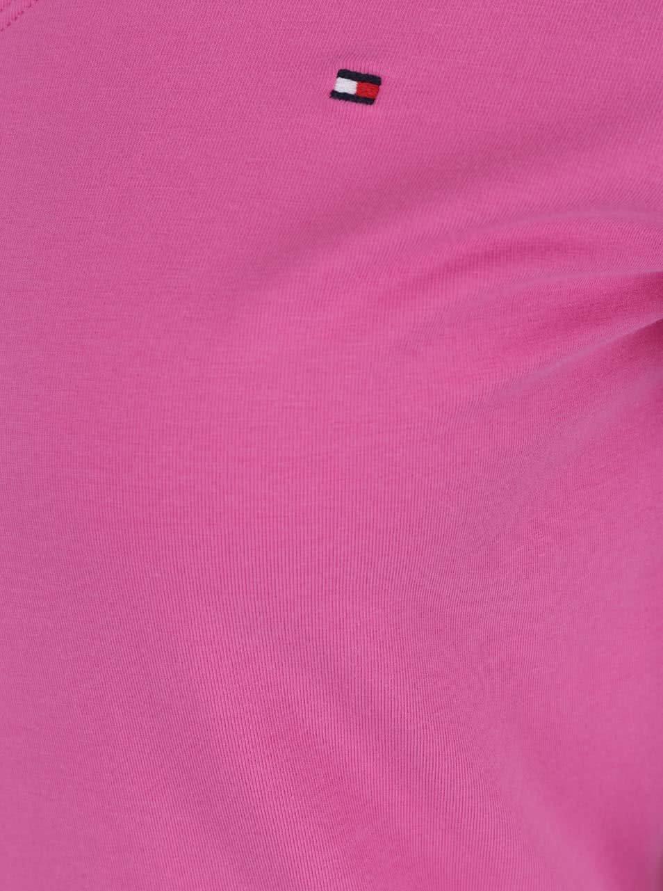 Ružové dámske tričko Tommy Hilfiger ... e9a4cb571c3