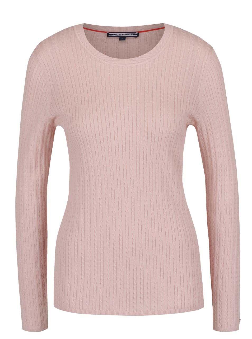 Svetloružový dámsky sveter Tommy Hilfiger ... 66b9915b559