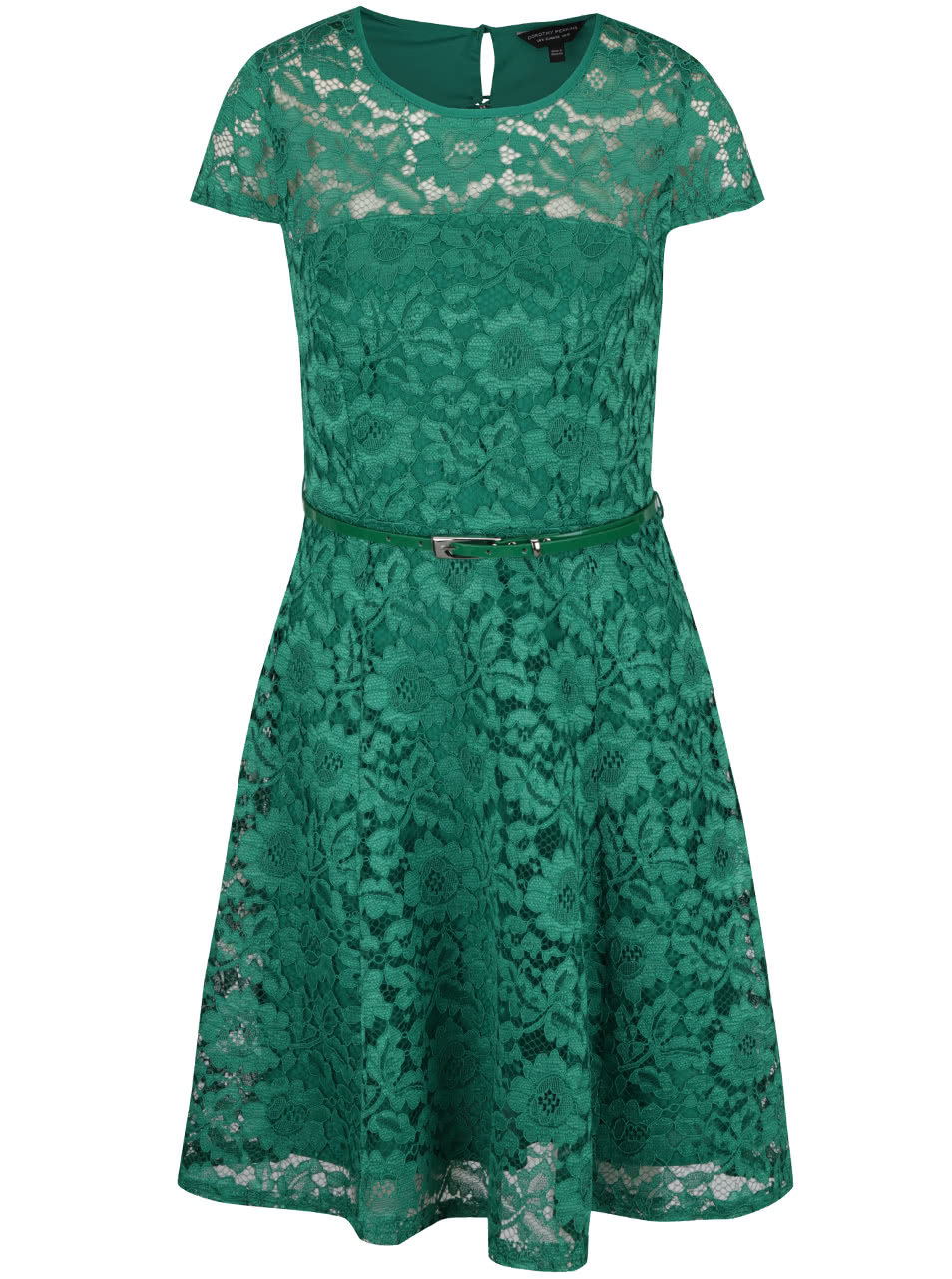 c409090afee1 Zelené krajkové šaty s páskem Dorothy Perkins ...