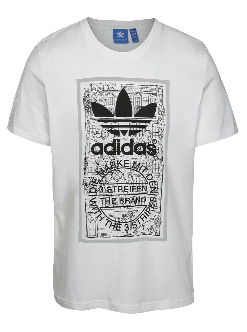 436b6c02763b Biele pánske tričko adidas Originals Brick Tongue ...