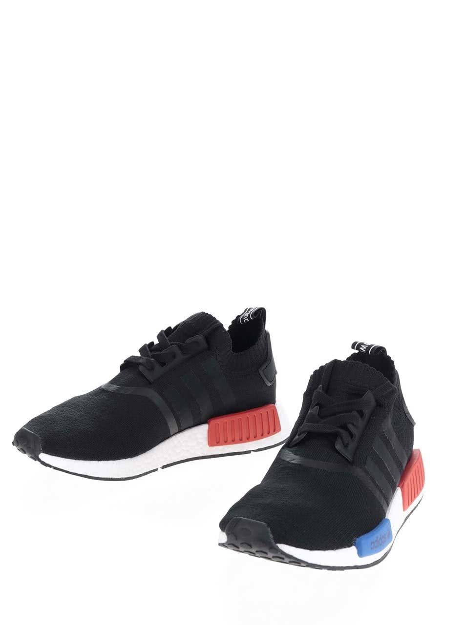 4d12af09bc8 Čierne pánske tenisky na platforme adidas Originals NMD ...