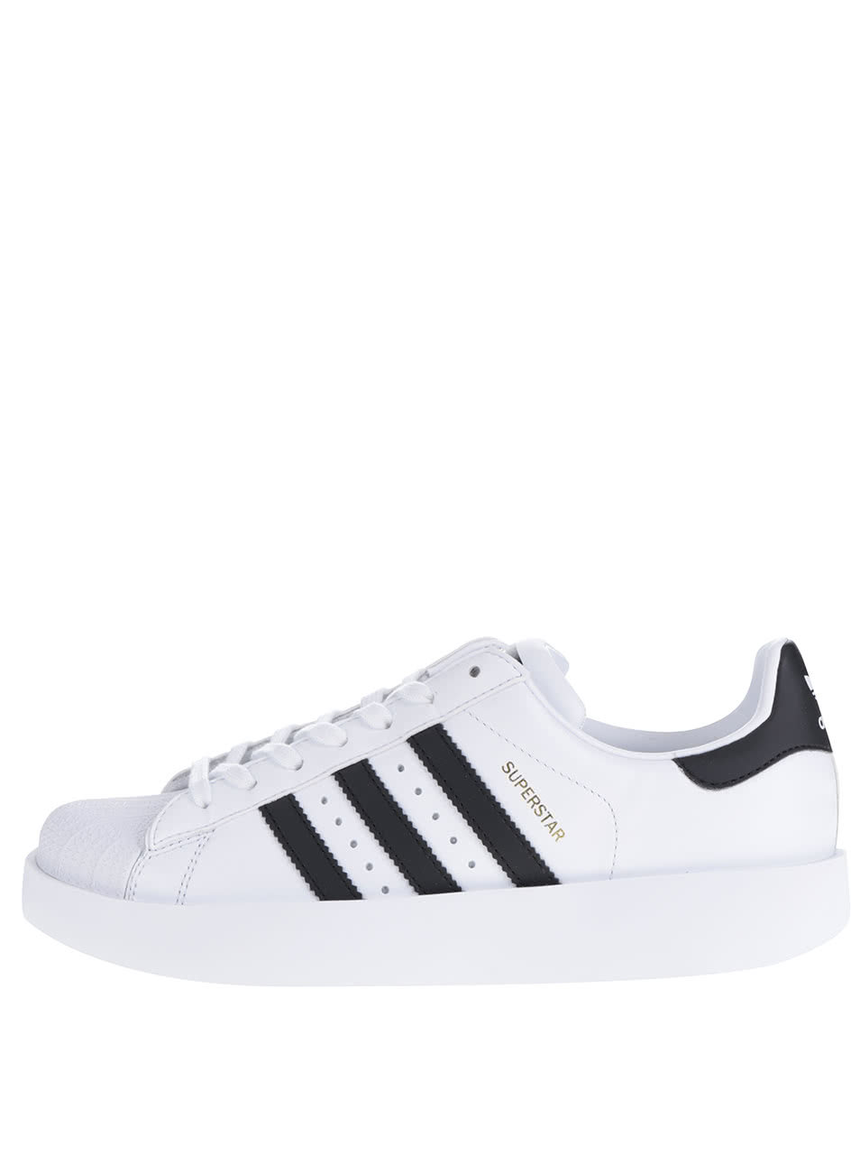 Biele dámske kožené tenisky na platforme adidas Originals Superstar ... 8c41a6d9d34