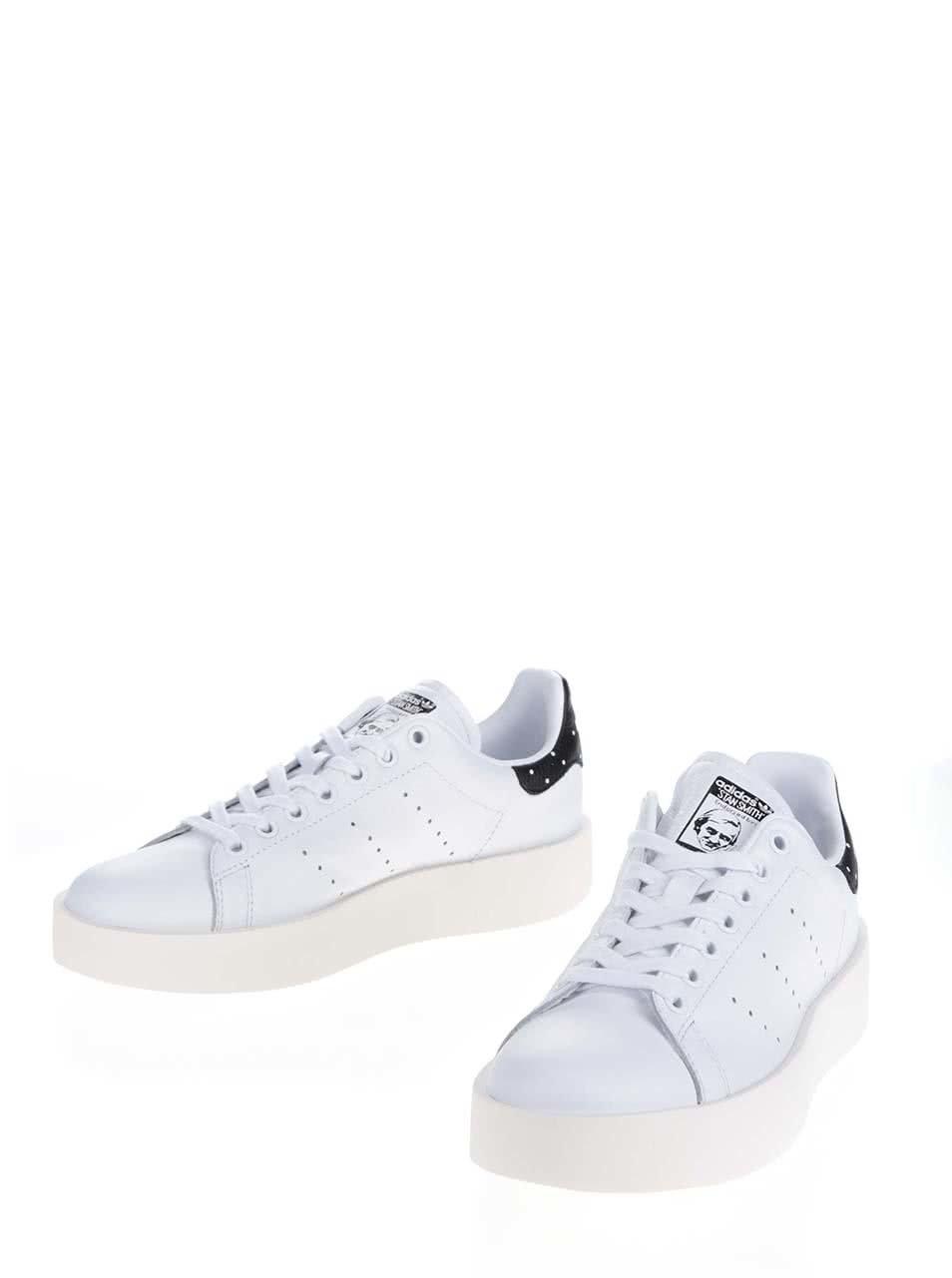 14dfa0612d Biele dámske kožené tenisky na platforme adidas Originals Stan Smith ...