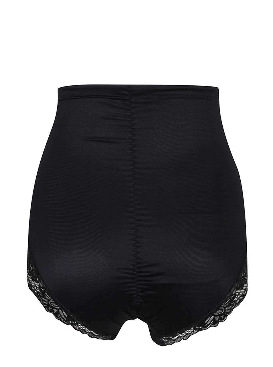 Černé krajkové stahovací kalhotky s vysokým pasem M Co ... 639505dff9