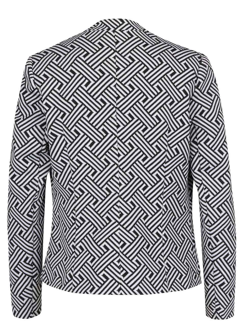 46ae931e78 Čierno-biele dámske vzorované sako M Co ...