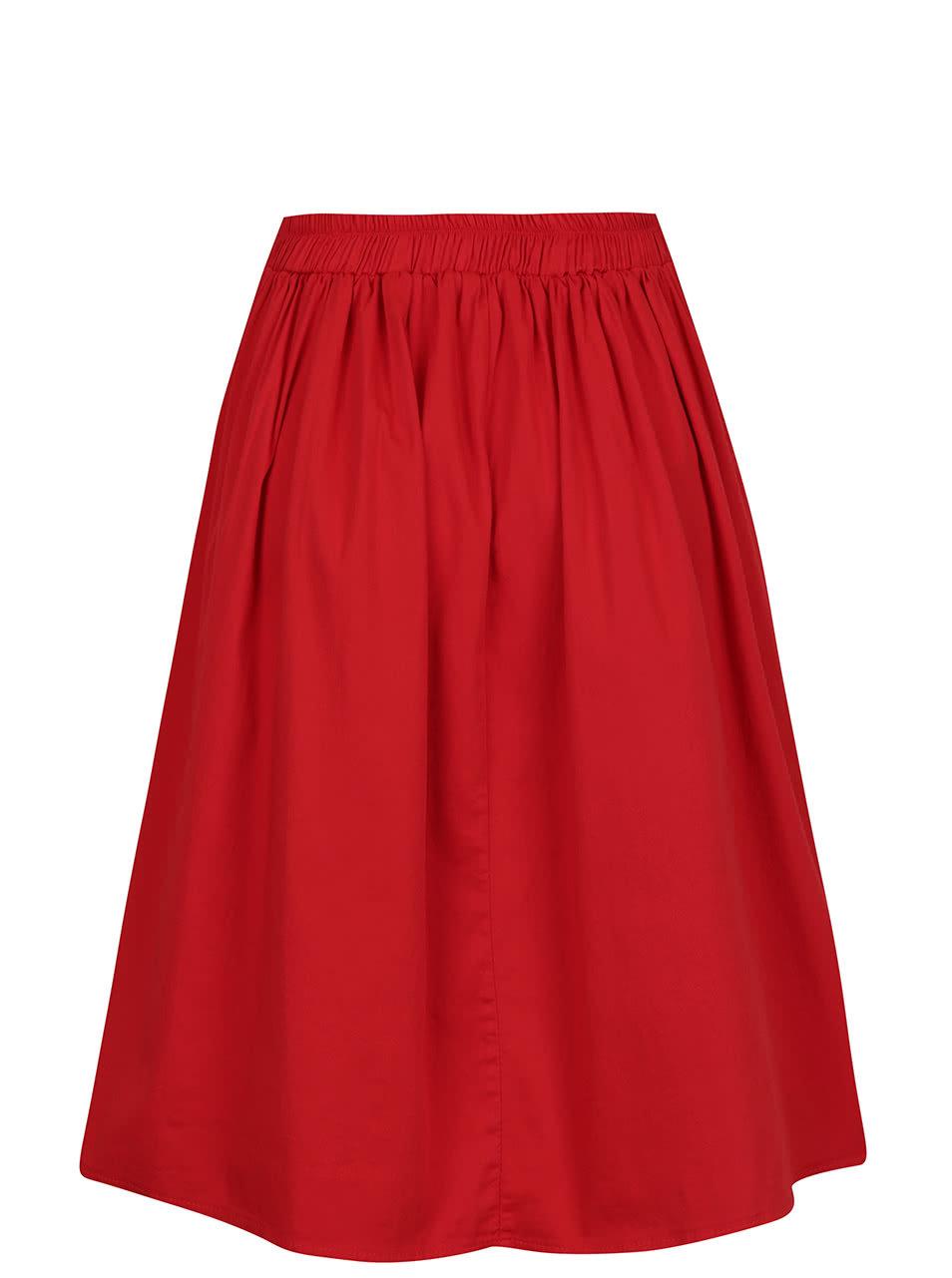 Červená sukně ZOOT ... 56c5cfcdd8