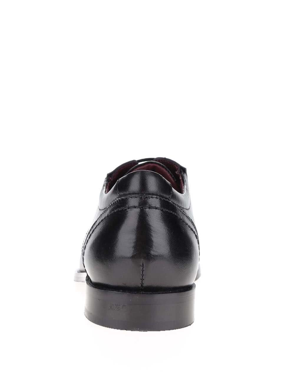 Černé pánské kožené polobotky s.Oliver  fad88de2f7