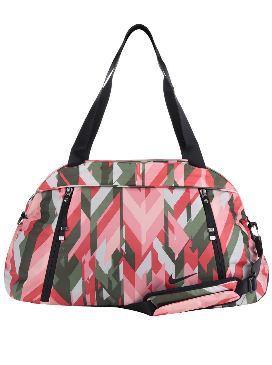 Zeleno-růžová dámská sportovní vzorovaná taška Nike 23 l ... aa6c1dbaed1