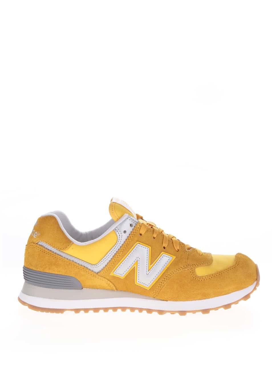 Žlté pánske semišové tenisky New Balance ... 0ed3f3368f5