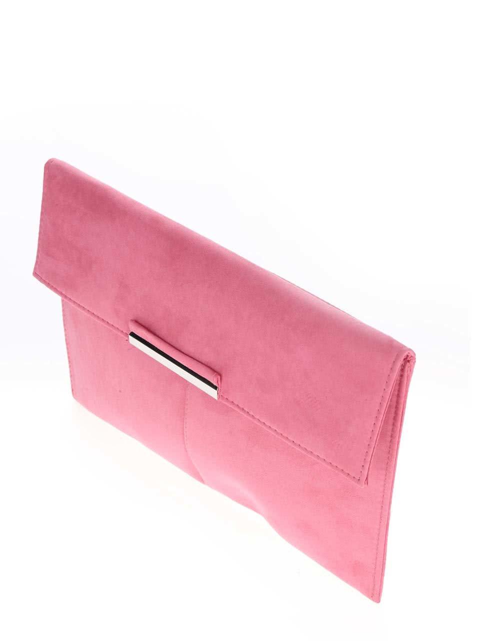 3327da5529 Ružová listová kabelka v semišovej úprave Dorothy Perkins ...