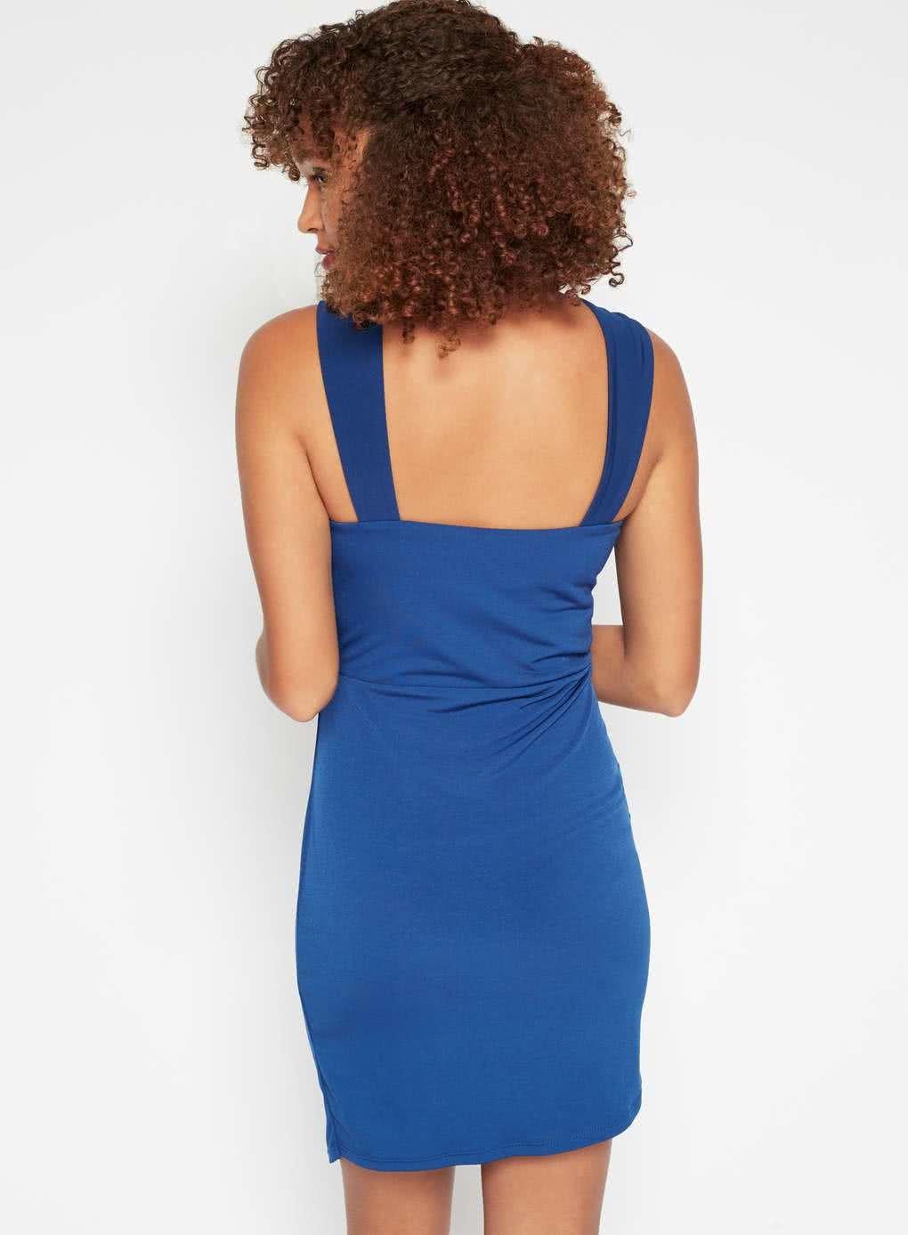 44c32b47bc2e Tmavě modré šaty s překřížením v dekoltu Miss Selfridge ...