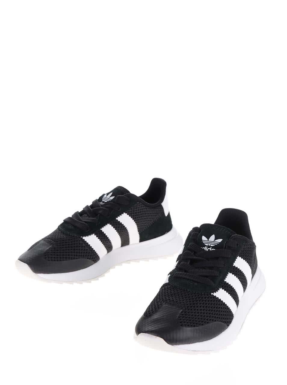 Bílo-černé dámské tenisky adidas Originals Flashback ... f8f592d9354