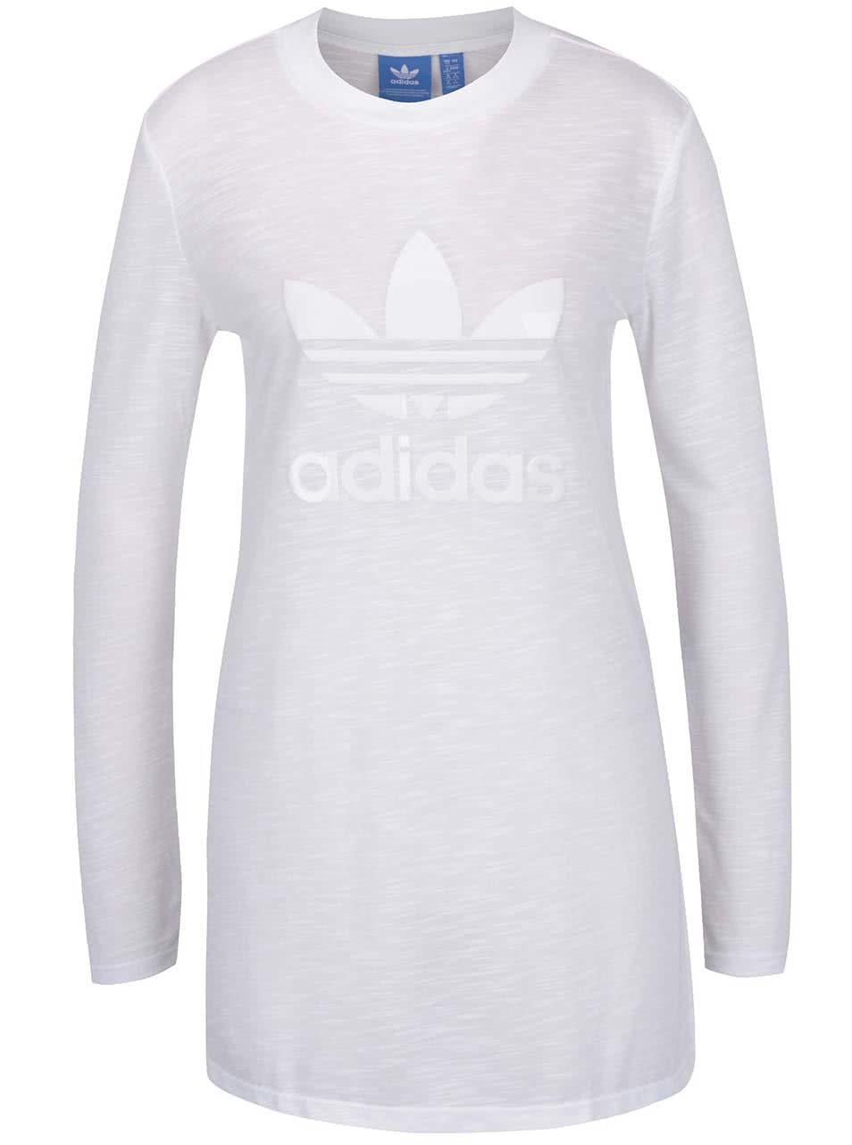 22a4039cdfd6 Biele dámske dlhé priesvitné tričko adidas Originals ...