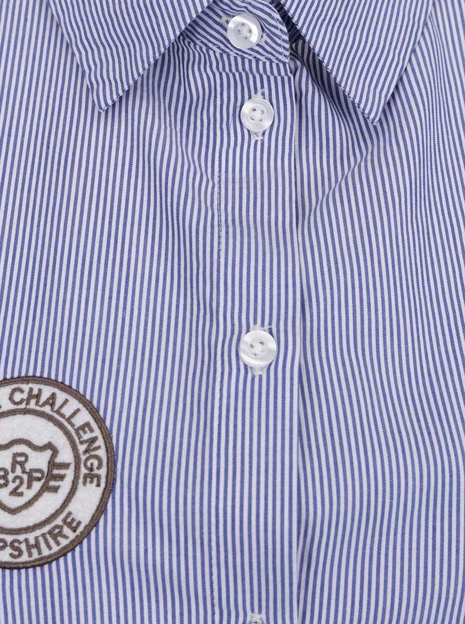 f372cc9cd75 Modrá pruhovaná košile s nášivkami Jacqueline de Yong Isaak ...