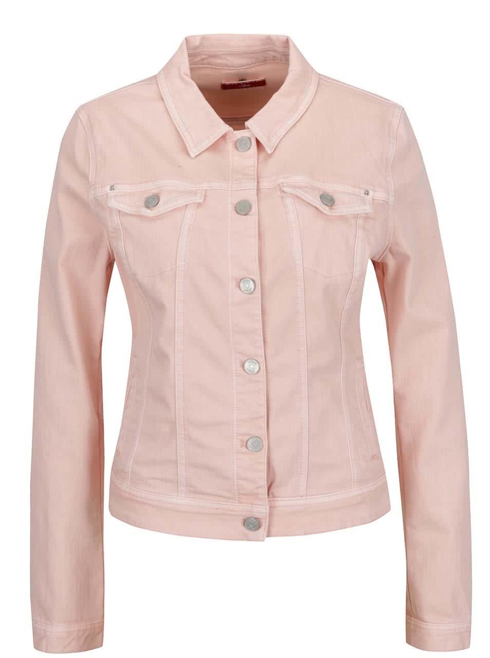 76f8f7422374 Ružová dámska rifľová bunda s.Oliver ...
