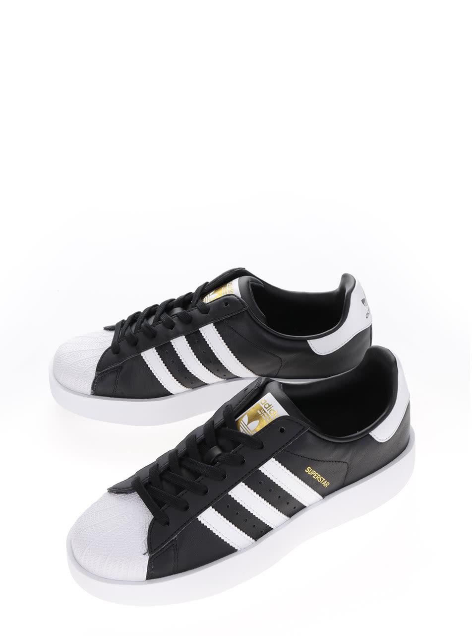 366f7a078c Čierne dámske kožené tenisky na platforme adidas Originals Superstar ...