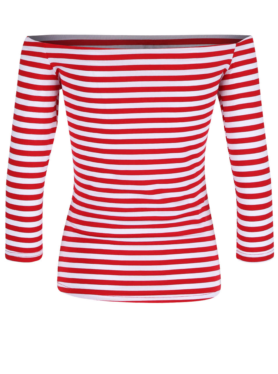 2a76f0b48d Červené pruhované tričko s odhalenými ramenami Dolly   Dotty Gloria ...