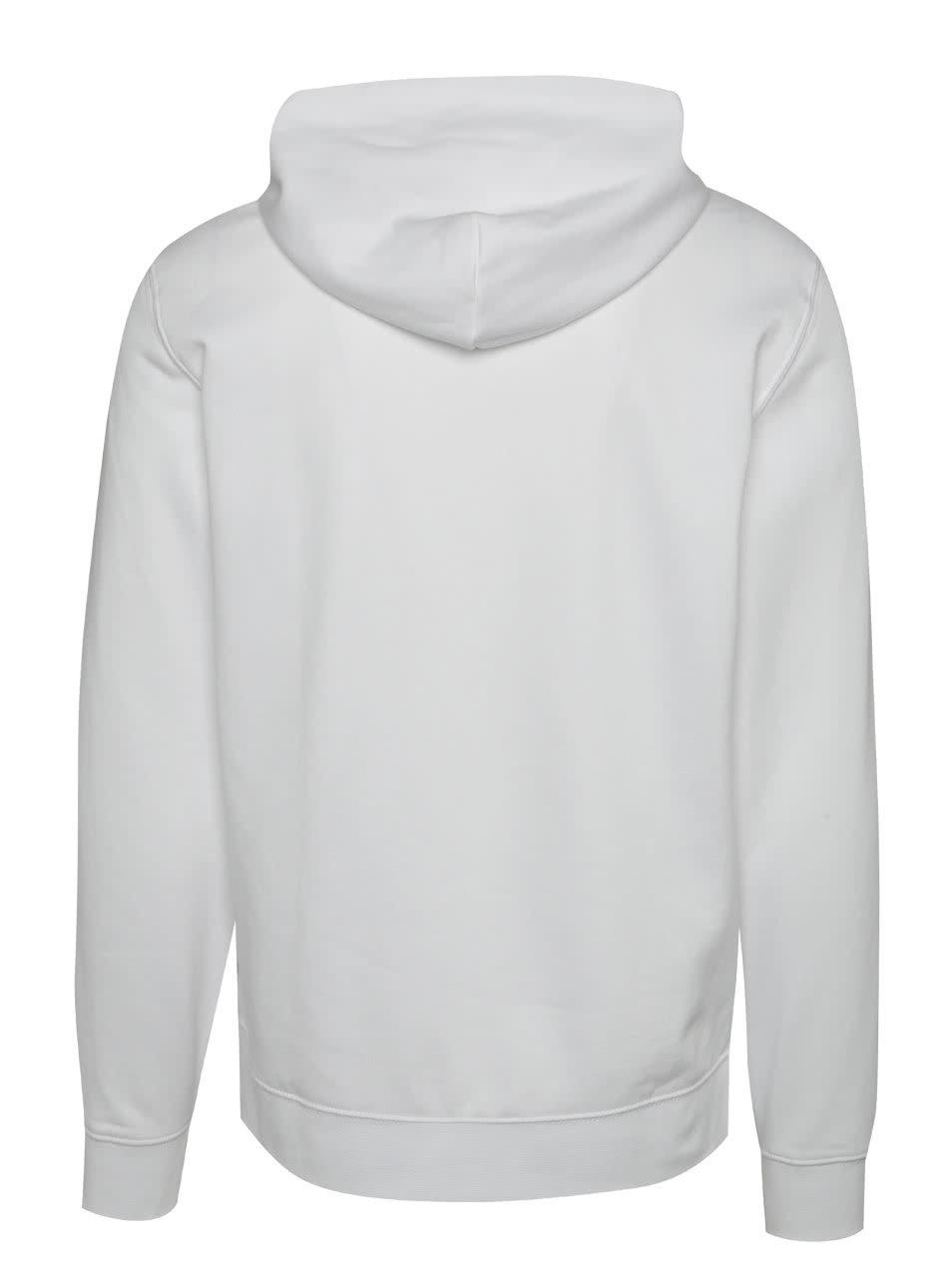 Bílá pánská mikina s kapucí a potiskem s.Oliver  41906d5b71