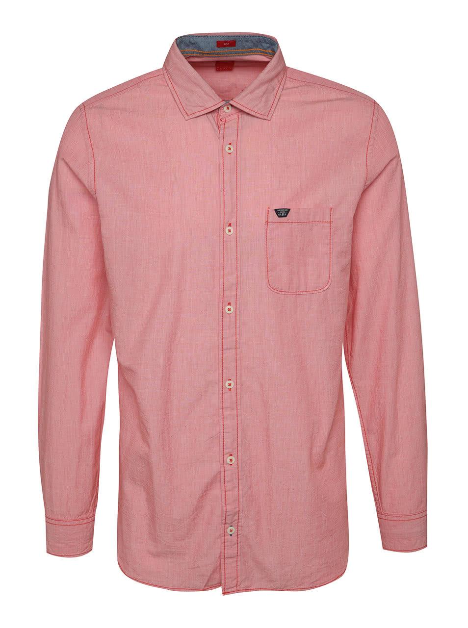 3681962b2eb Červená pánská slim fit košile s.Oliver