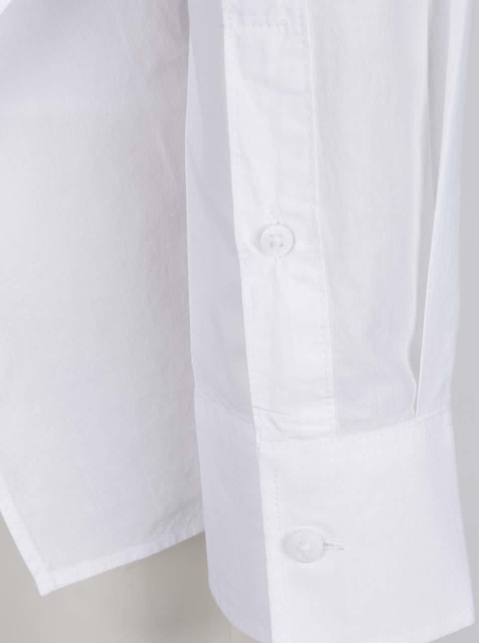 72a70004167 Krémová oversize košile s průstřihem na zádech Cheap Monday ...