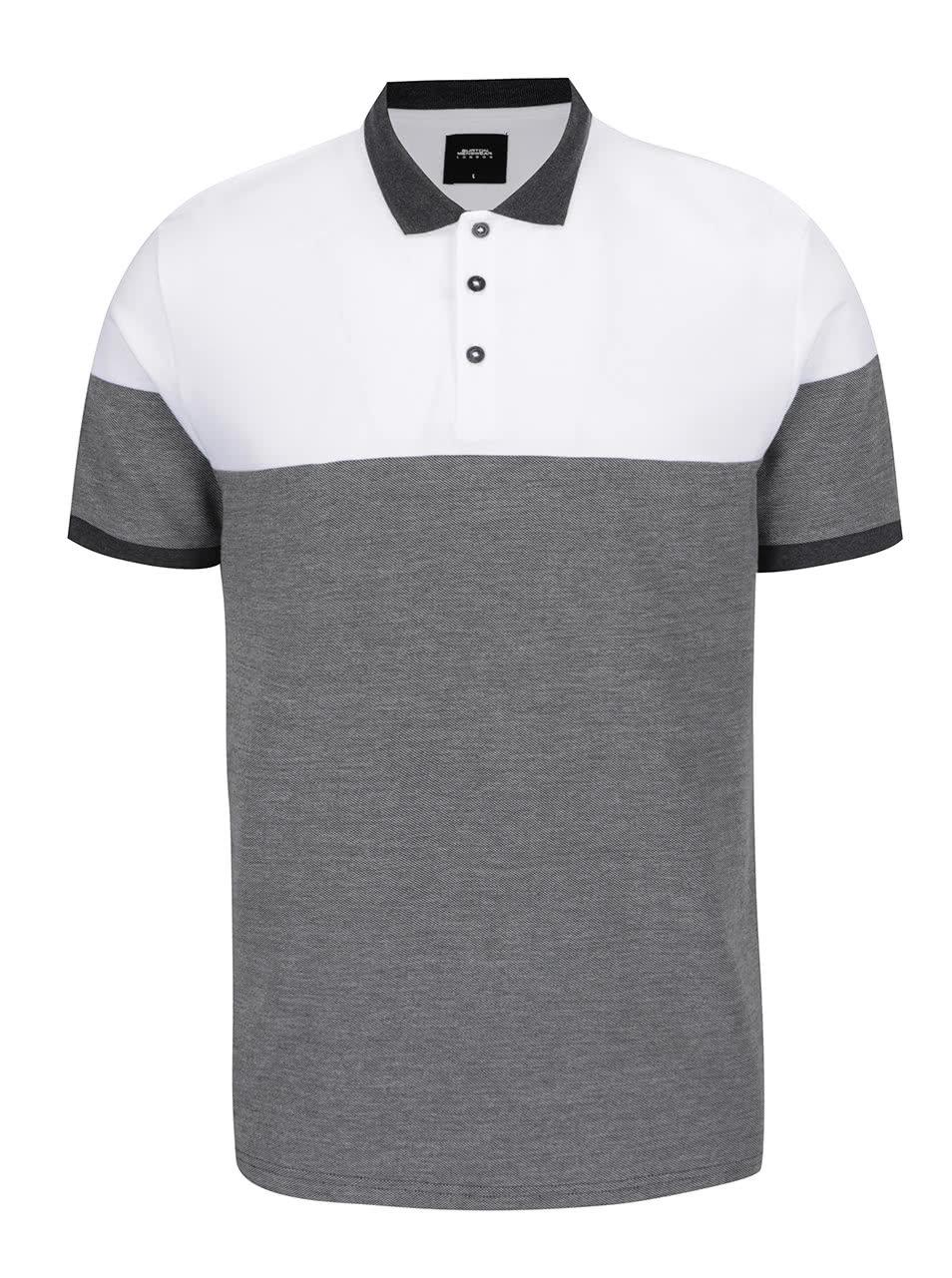 ec601f2c8c54 Bielo-sivá pánska polokošeľa Burton Menswear London ...
