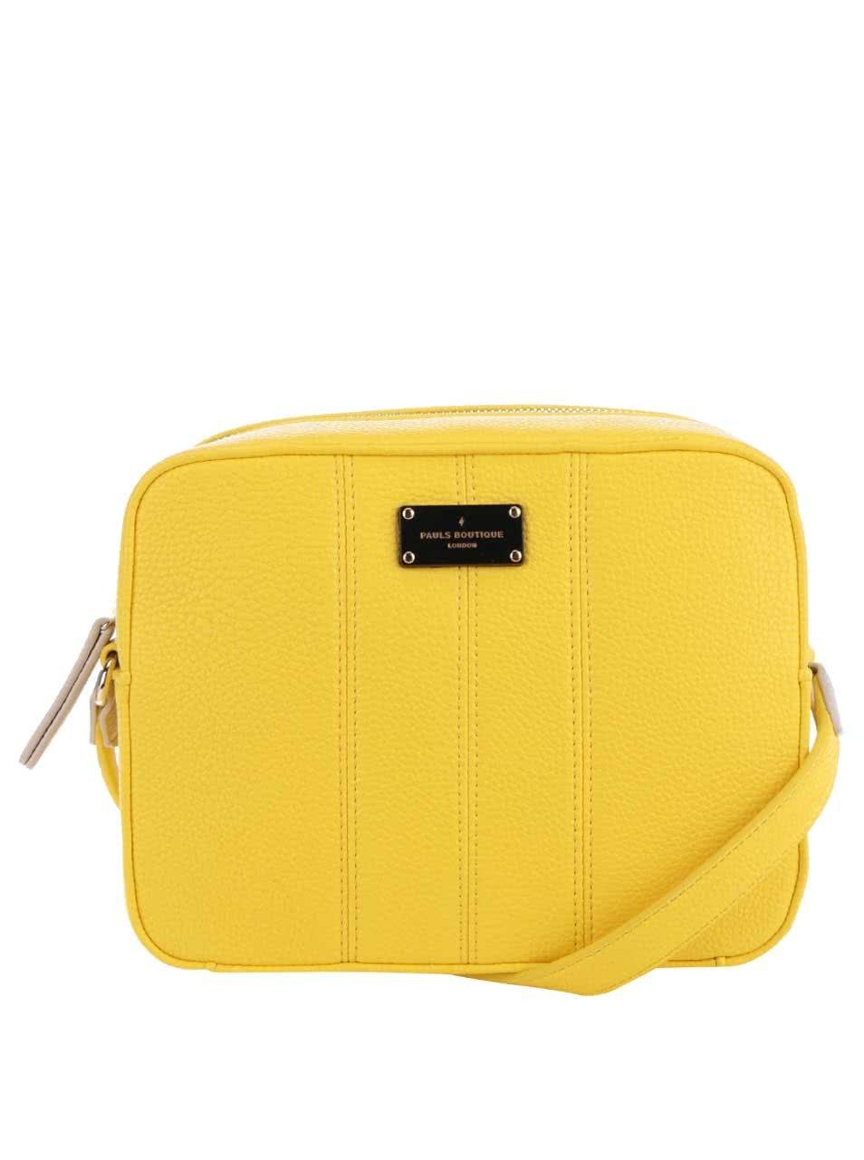 Žltá crossbody kabelka Paul s Boutique Mini ... 44e427c3165
