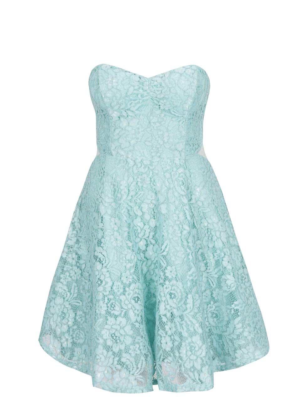 0d9810f8663 Světle modré krajkové šaty TALLY WEiJL ...