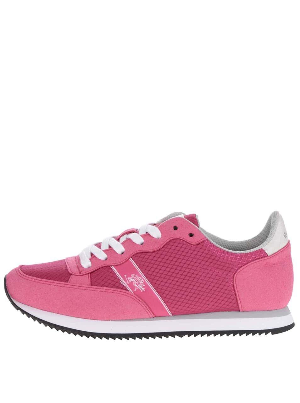 Růžové dámské tenisky U.S. Polo Assn. Rasty ... 4113635d30