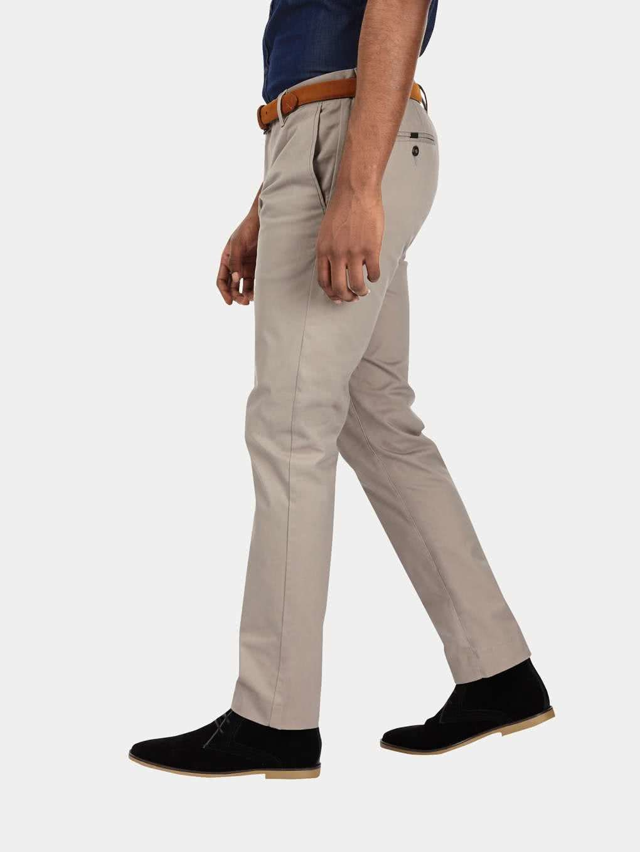 906986be8751 Sivé slim chino nohavice s opaskom Burton Menswear London ...