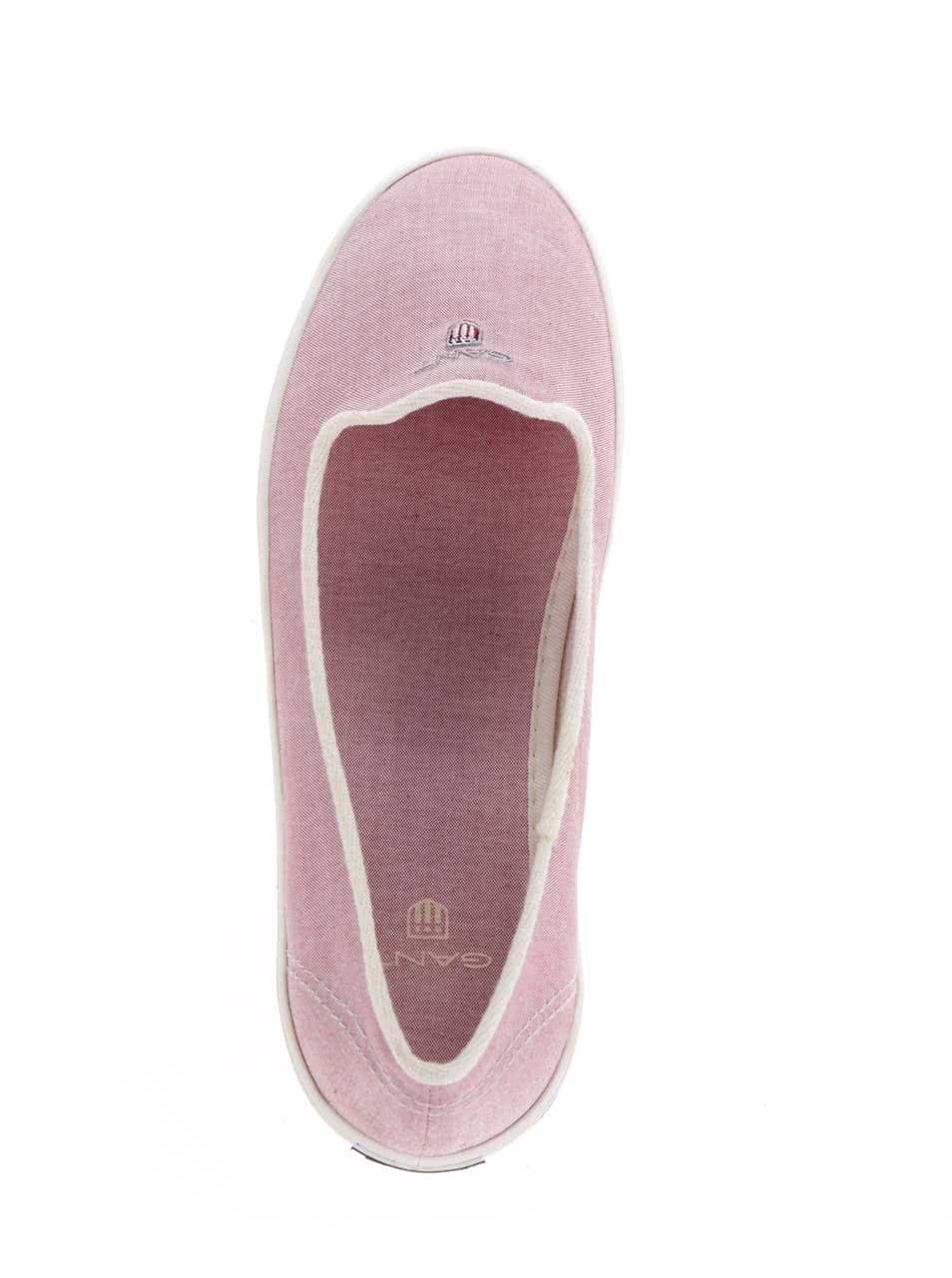 64c4d5b15f Ružové plátené baleríny GANT New Haven ...