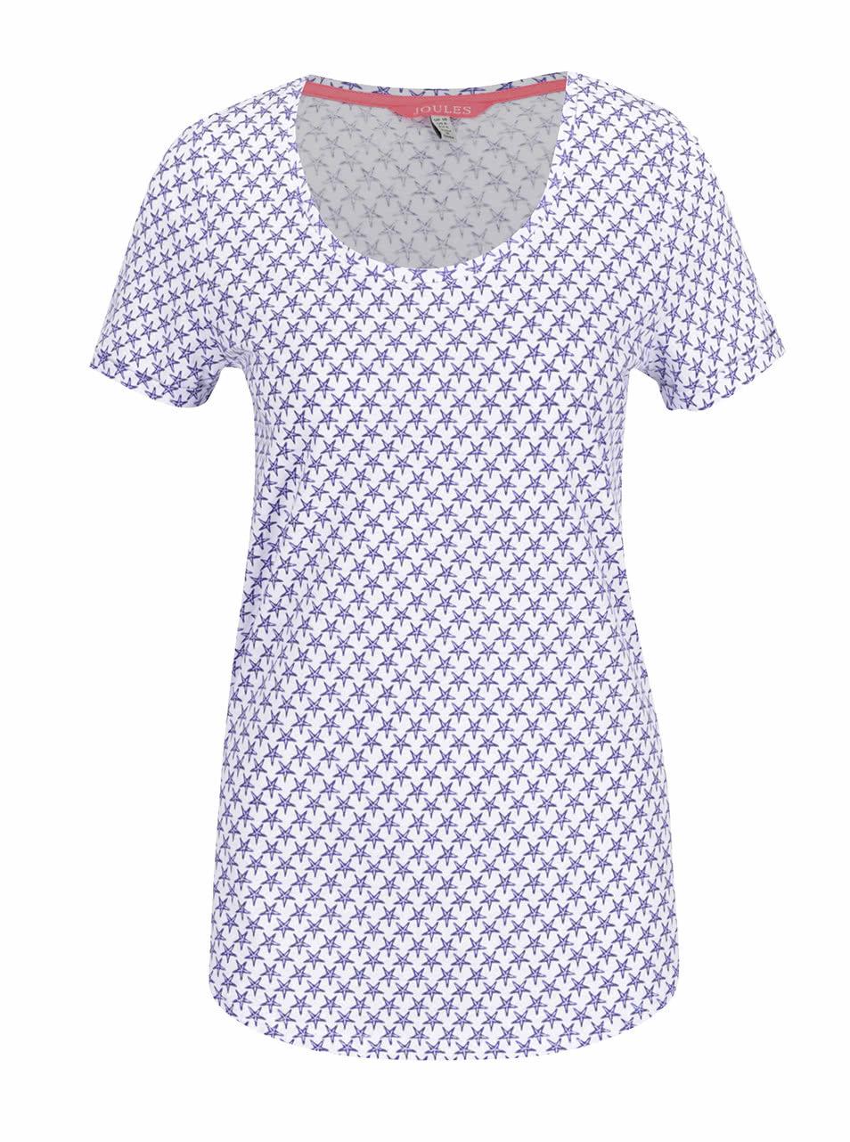 ef1b6a0794 Modro-biele dámske tričko s potlačou hviezd Tom Joule Daily Print ...