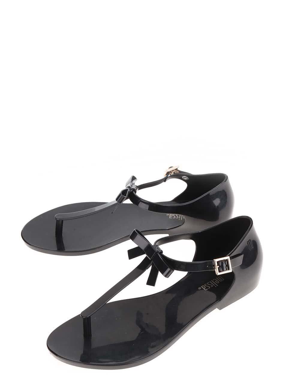 a112b85d3ac5 Čierne sandále s mašľou Melissa Honey ...