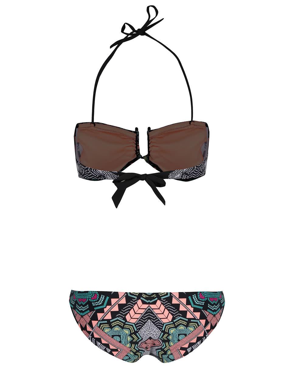 Černé dámské dvojdílné plavky se vzorem Rip Curl Fiesta ... 1b5bb49734