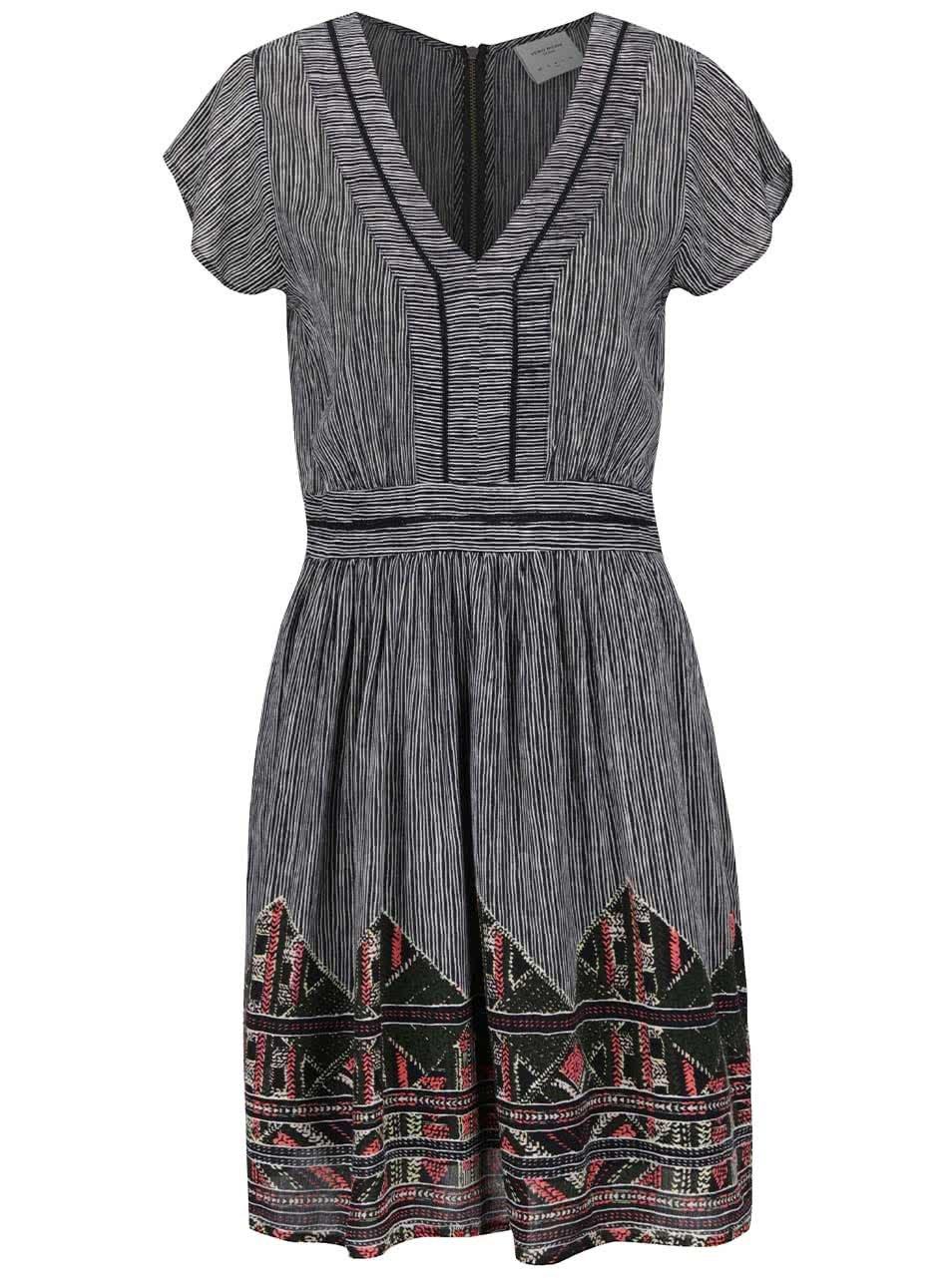 Černé vzorované šaty VERO MODA Aneborder