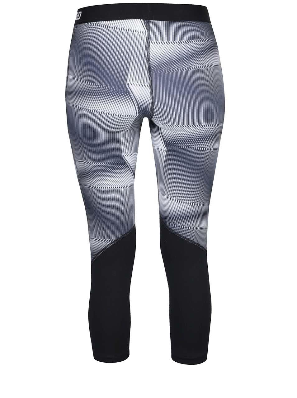Modro-sivé dámske vzorované funkčné 3 4 legíny Nike Pro Cool ... ea84896ef4