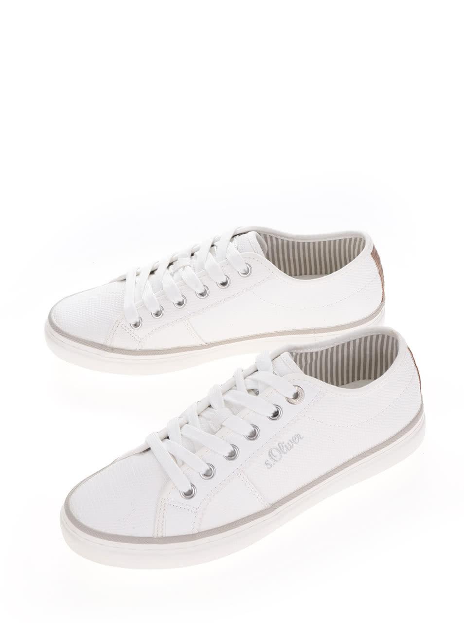 Bílé dámské tenisky s.Oliver ... 976f97ba4a7