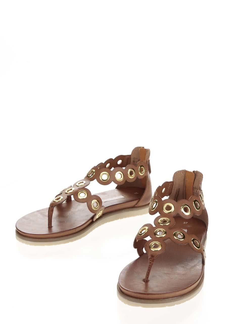 Hnědé dámské sandály bugatti Jodie ... 63da4aff59