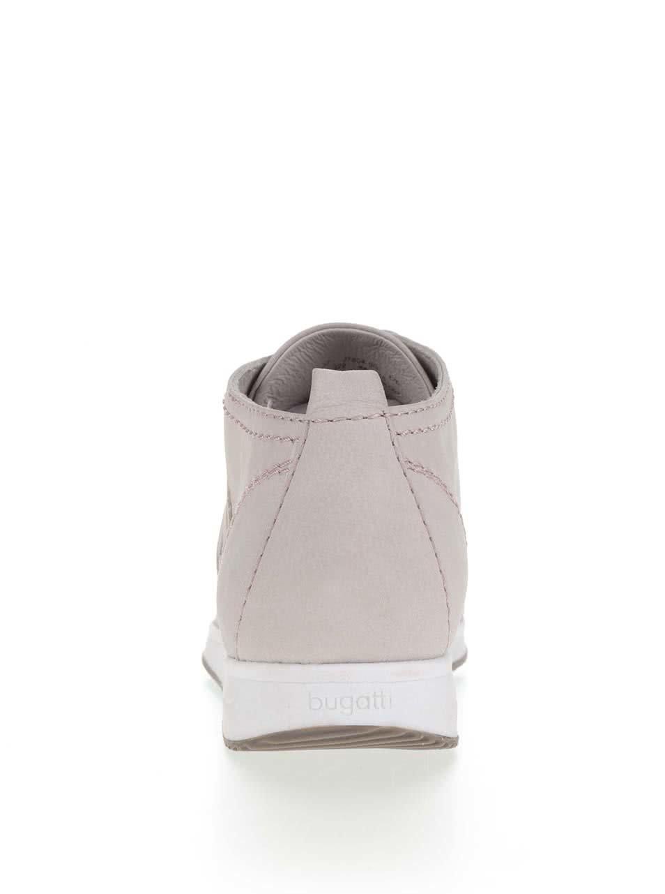 72003b8905 Sivé dámske kožené členkové topánky s potlačou loga bugatti Fina ...