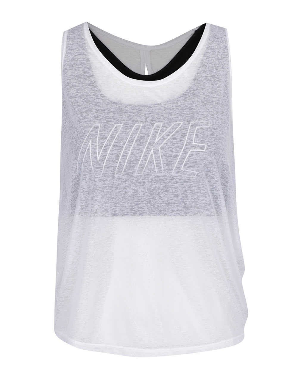 3996ac77c0fc Biele dámske funkčné tielko 2v1 Nike Training ...