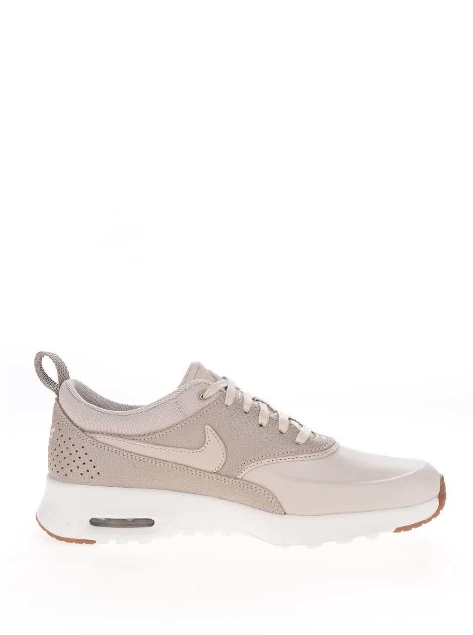 Béžové dámské kožené tenisky Nike Air Max Thea Premium ... 0a040daee8f