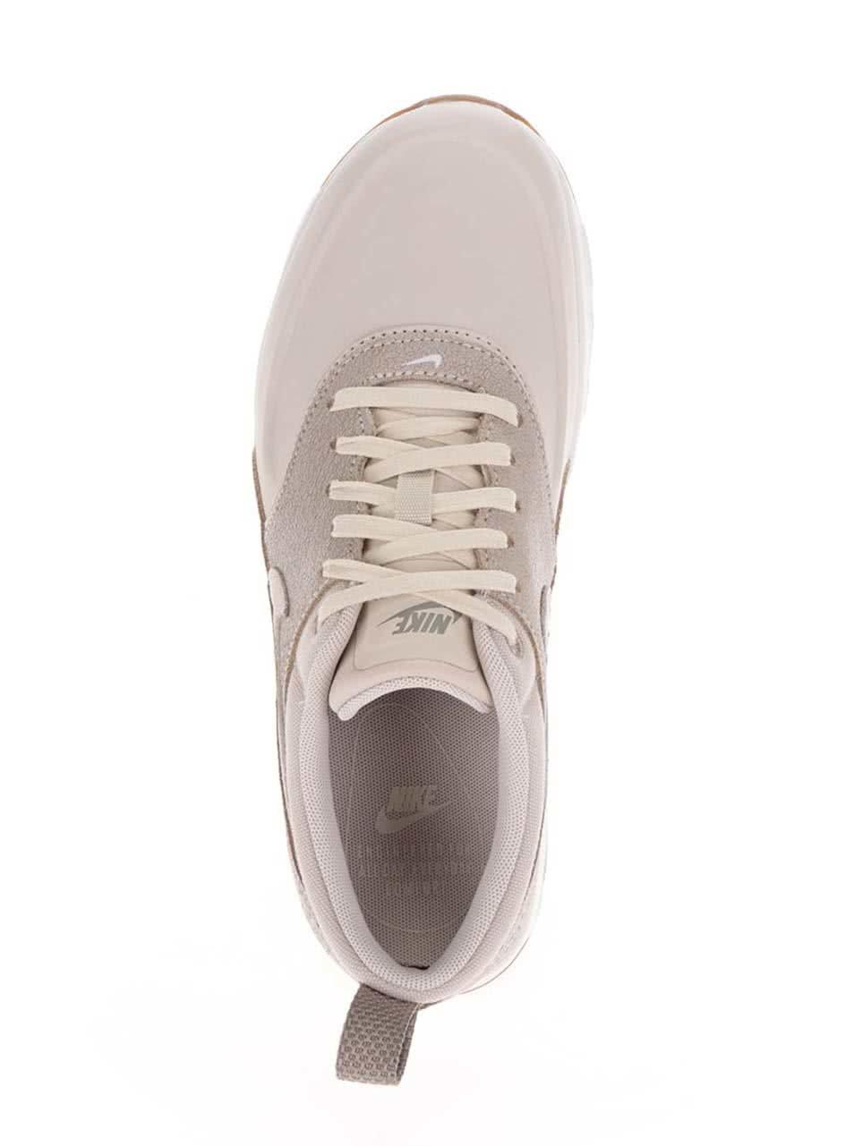 754b9cfe0a Béžové dámske kožené tenisky Nike Air Max Thea Premium ...
