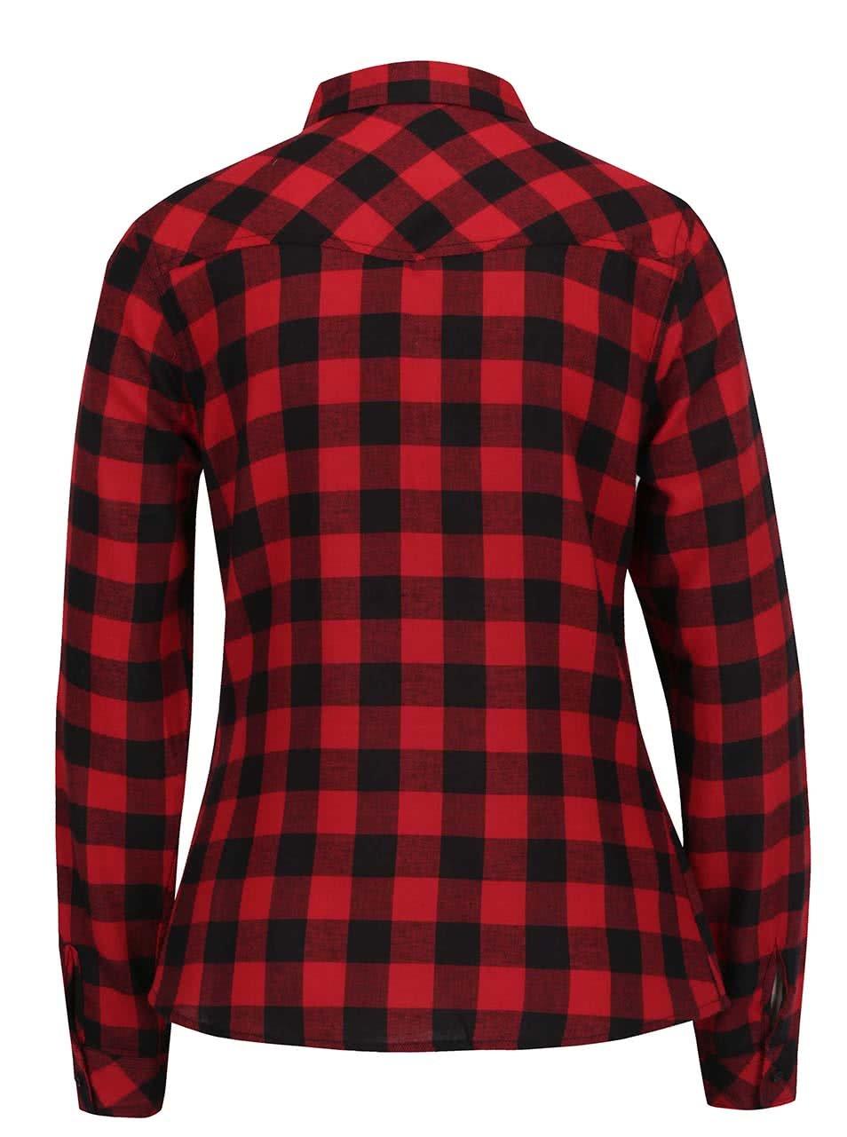 Červená kostkovaná košile TALLY WEiJL ... 8ec3189ce3